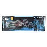 Русская проводная клавиатура + мышка Zeus M710 с подсветкой, фото 5