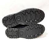 Мужские зимние ботинки из натуральной кожи теплые кроссовки на меху Черные, фото 8