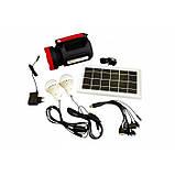 Фонарь ручной светодиодный Yajia YJ-1902T с солнечной панелью и USB Power Bank, фото 9