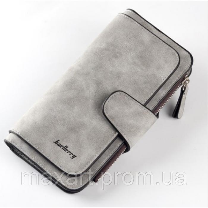 Женский кошелек клатч портмоне Baellerry Forever N2345 серый