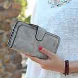 Женский кошелек клатч портмоне Baellerry Forever N2345 серый, фото 3