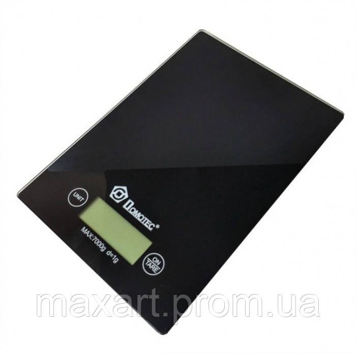 Сенсорные электронные кухонные весы до 7 кг Domotec MS 912 Чёрные