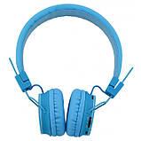 Беспроводные Bluetooth Наушники с MP3 плеером NIA-X2 Радио блютуз Синие, фото 2