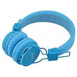 Беспроводные Bluetooth Наушники с MP3 плеером NIA-X2 Радио блютуз Синие, фото 3