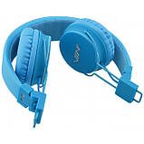 Беспроводные Bluetooth Наушники с MP3 плеером NIA-X2 Радио блютуз Синие, фото 4