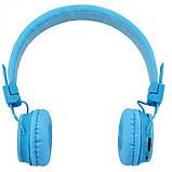Беспроводные Bluetooth Наушники с MP3 плеером NIA-X2 Радио блютуз Синие, фото 5