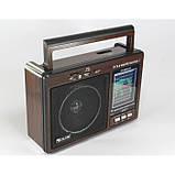 Радиоприемник-колонка MP3 GOLON RX 9966UAR Коричневый, фото 3
