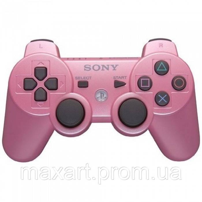 Беспроводной Джойстик Sony Геймпад PS3 для Sony PlayStation PS розовый