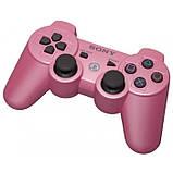 Беспроводной Джойстик Sony Геймпад PS3 для Sony PlayStation PS розовый, фото 2