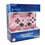 Беспроводной Джойстик Sony Геймпад PS3 для Sony PlayStation PS розовый, фото 4
