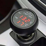 Автомобильный термометр - вольтметр - USB VST 706-1, фото 4