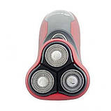 Электробритва Бритва Domotec MS-7731 триммер Красная, фото 3