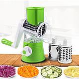 Ручная овощерезка-терка с насадками Kitchen Master 5140 зелёная, фото 3