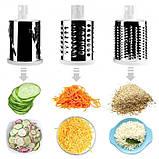 Ручная овощерезка-терка с насадками Kitchen Master 5140 зелёная, фото 4