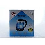 Электро чайник Domotec MS-8210 2200W 2L стекло с подсветкой, фото 7