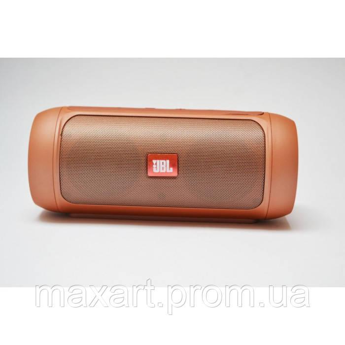 Портативная bluetooth колонка спикер JBL Charge 2 FM, MP3, радио Золотая