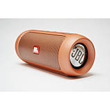 Портативная bluetooth колонка спикер JBL Charge 2 FM, MP3, радио Золотая, фото 2