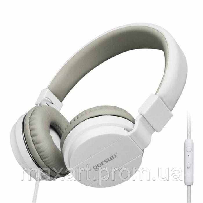 Проводные Наушники Gorsun GS-779 с микрофоном Белый