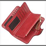 Женский кошелек, портмоне Baellerry N2341 Тёмно-Бордовый, фото 2