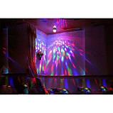 Вращающаяся диско-лампа LY-399 «LED FULL COLOR» лампочка, проектор, фото 3