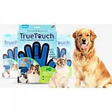 Перчатка для животных вычесывания True Touch Pet Brush Gloves, фото 5