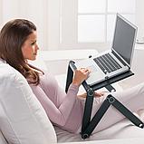 Столик для ноутбука с охлаждением Laptop Table T8, фото 6