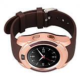 Сенсорные Smart Watch V8 смарт часы умные часы Золотые, фото 2