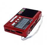 Радиоприёмник RX 181 c USB/SD функцией и съемным аккумулятором Красный, фото 4