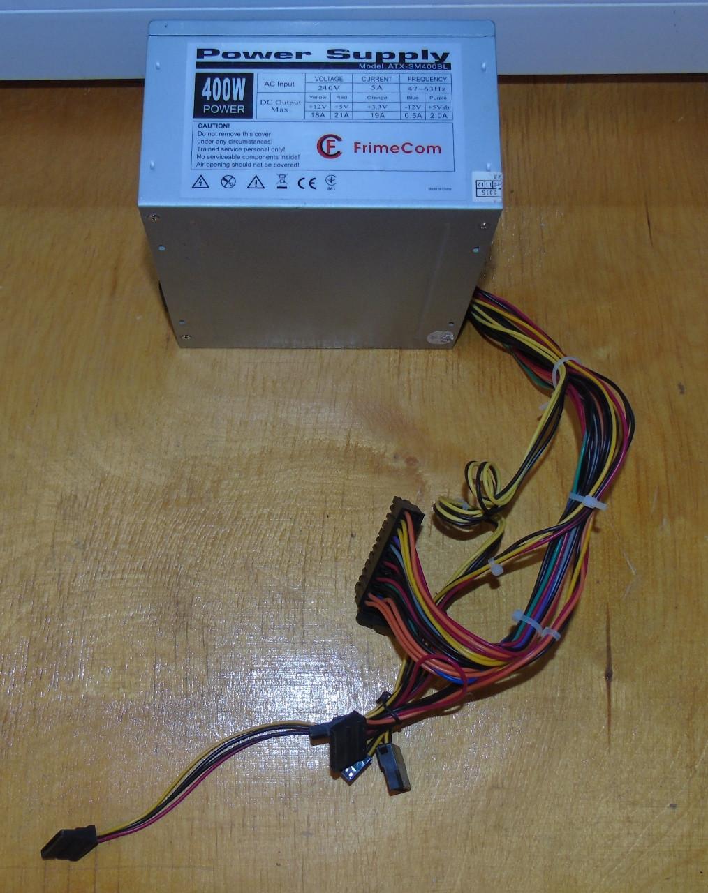 400W Блок питания FrimeCom ATX-SM400BL