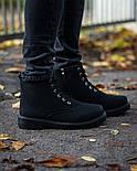 Ботинки мужские зимние с мехом Тимбо| ботинки теплые черные. Живое фото, фото 5