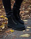 Ботинки мужские зимние с мехом Тимбо| ботинки теплые черные. Живое фото, фото 4