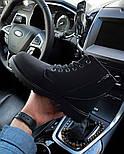Ботинки мужские зимние с мехом Тимбо| ботинки теплые черные. Живое фото, фото 3