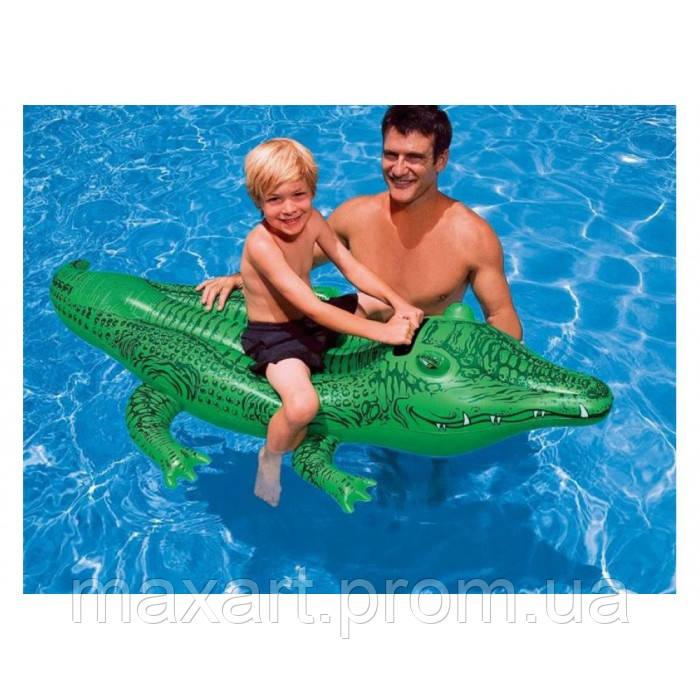 "Плотик Intex 58546 NP ""Крокодил"" размером 168х86см, от 3-х лет"