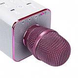 Беспроводной микрофон караоке блютуз Q7 Bluetooth динамик USB ФИОЛЕТОВЫЙ В ЧЕХЛЕ, фото 2