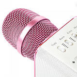 Беспроводной микрофон караоке блютуз Q7 Bluetooth динамик USB ФИОЛЕТОВЫЙ В ЧЕХЛЕ, фото 3