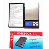 Ювелирные электронные весы 0,01-500 гр 1108-5 notebook, фото 6