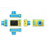 Детский цифровой фотоаппарат Smart Kids Camera V7 Синий, фото 4