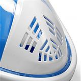 Полнолицевая панорамная маска для плавания FREE BREATH (L/XL) M2068G с креплением для камеры Синий, фото 7