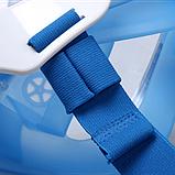 Полнолицевая панорамная маска для плавания FREE BREATH (L/XL) M2068G с креплением для камеры Синий, фото 8