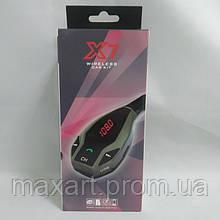 Автомобильный FM трансмиттер модулятор X7 Bluetooth MP3 Чёрный