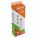 Удлинитель - Cетевой фильтр Greelite на 3 розетки 5 метров кабель, фото 2