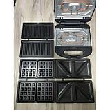 Мультимейкер 3 в 1, гриль, вафельница, бутербродница Rainberg RB-642  1500W, фото 2