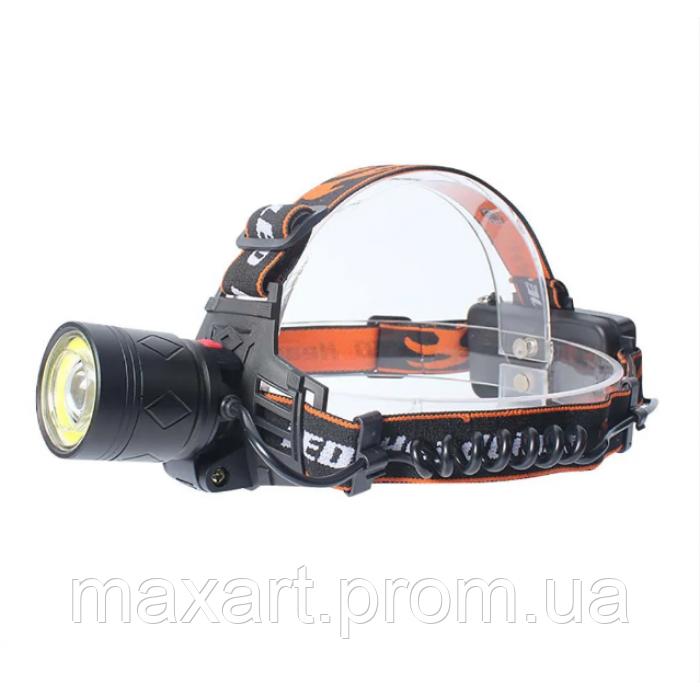 Налобный фонарь BL POLICE 8027-T6 фонарик 1800 Lumen