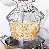 Складная решетка - дуршлаг Magic Kitchen Chef Basket, фото 4
