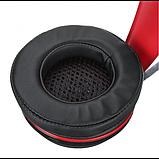 Игровые проводные наушники MISDE G6 со светодиодной подсветкой Чёрные с красным, фото 3