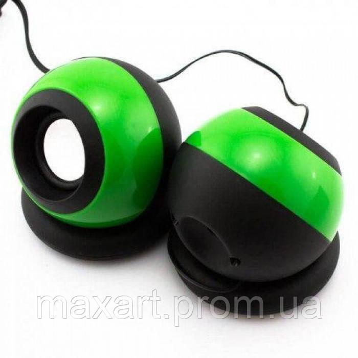 Компьютерные колонки акустика USB 2.0 D008 Зелёные