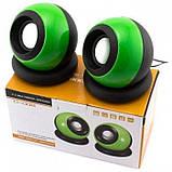 Компьютерные колонки акустика USB 2.0 D008 Зелёные, фото 2