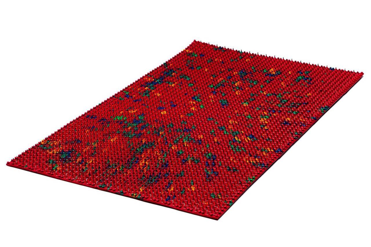 Аппликатор Ляпко Коврик Большой 7,0 Ag размер 275 х 480 мм массажер игольчатый на всю спину Красный