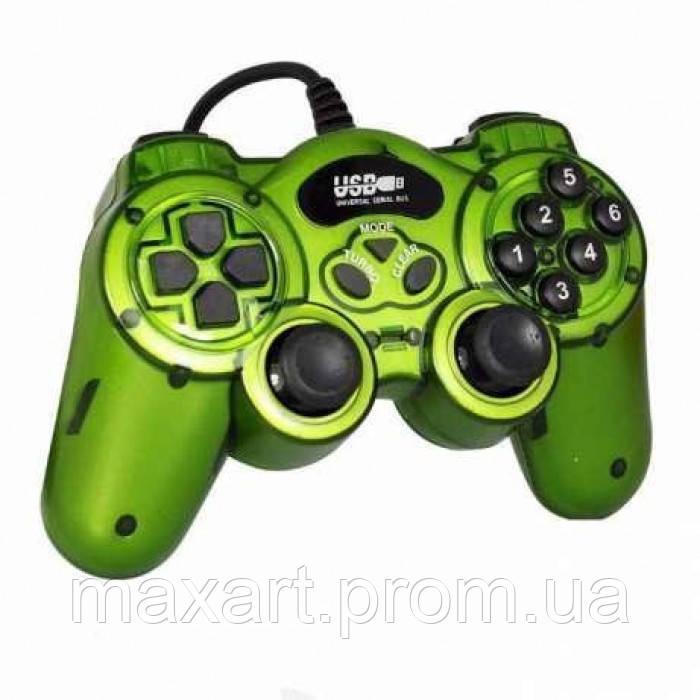 Игровой манипулятор TURBO USB GAMEPAD DJ-168 джойстик для ПК Зелёный