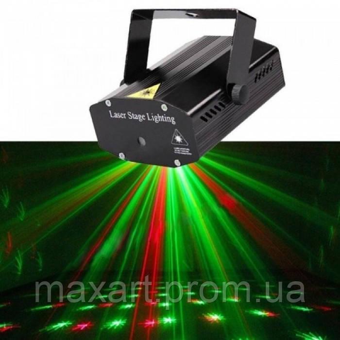 Лазерный проектор Диско LASER HJ09 2in1 Laser Stage с триногой Чёрный